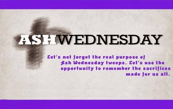 Ash Wednesday Poem Photo