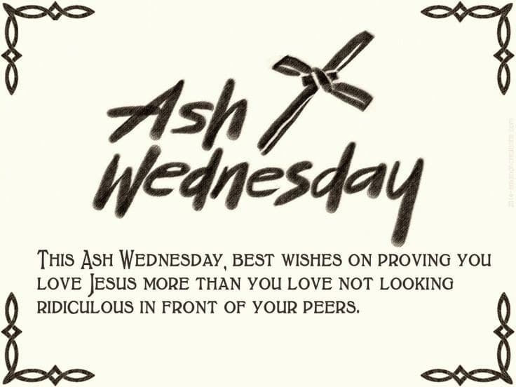 Ash Wednesday Poem