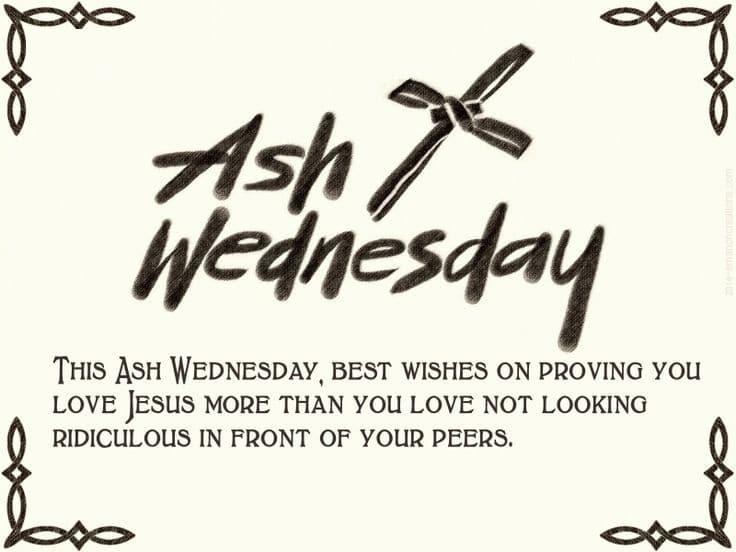 Ash Wednesday Poem