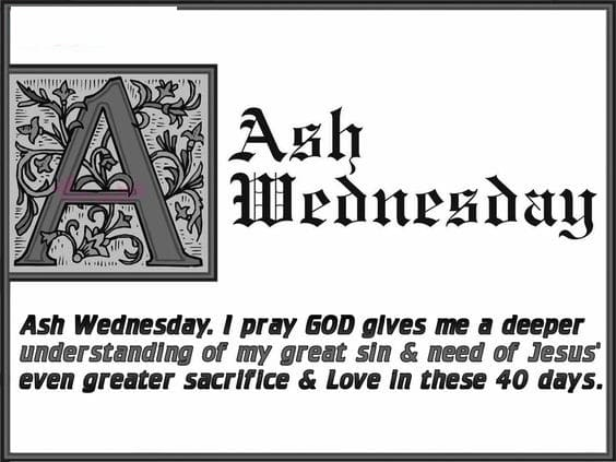 Ash Wednesday Sayings