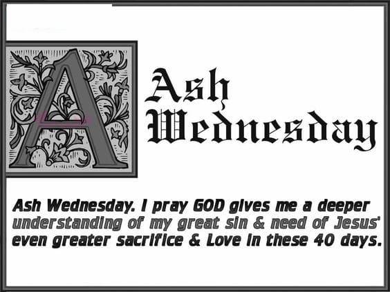 Ash Wednesday Sayings