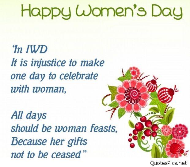 Happy Women's Day Sayings