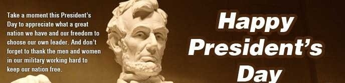 Presidents Day Messages
