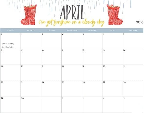 Calendar Kids April : April calendar printable for kids free hd images