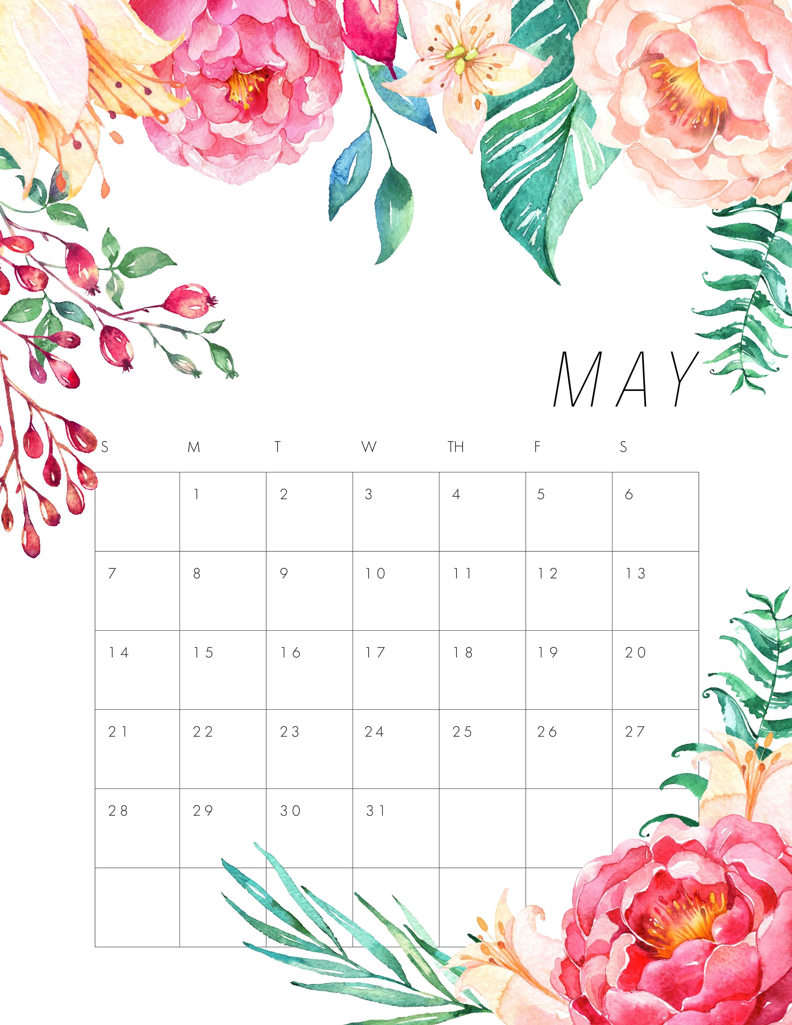 Calendar May 2018