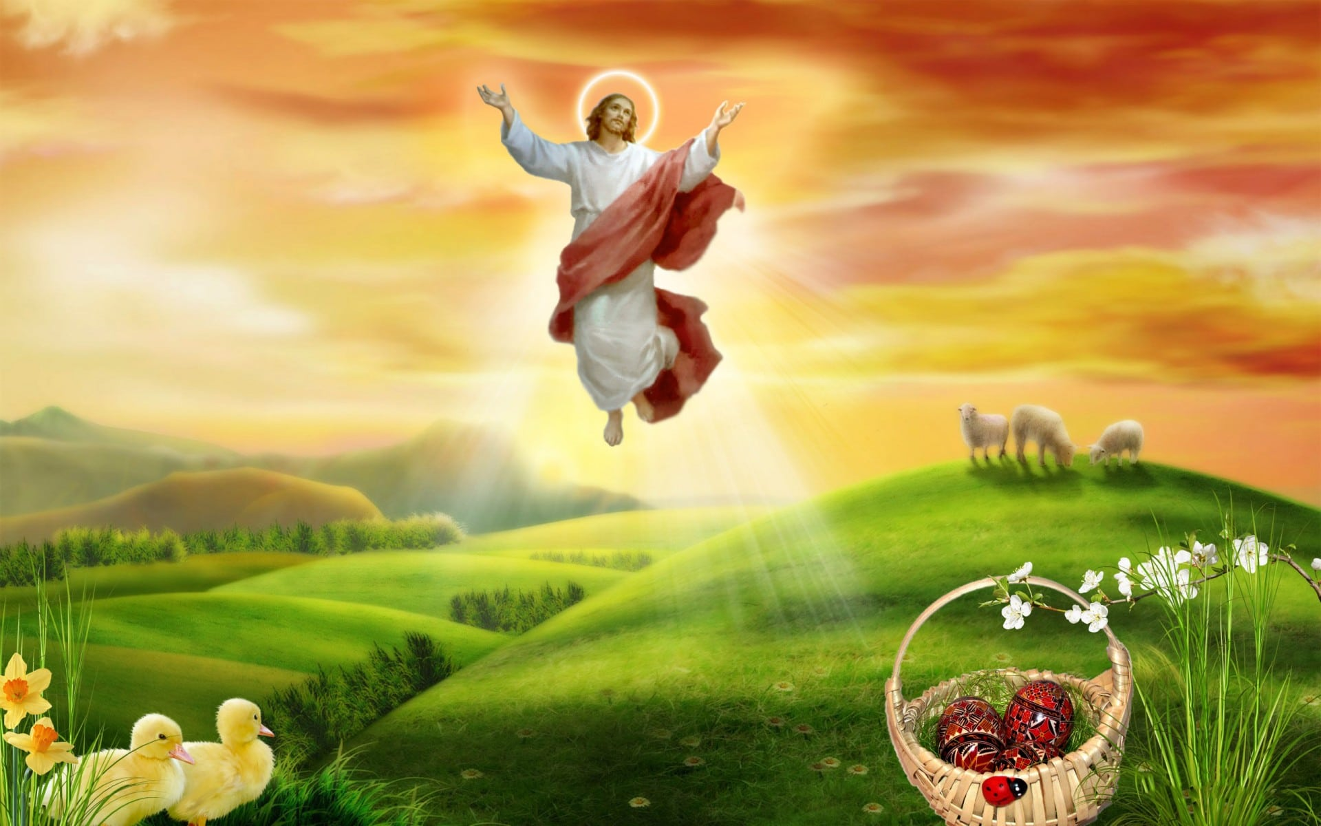 easter jesus prayer images - free hd images