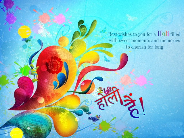 Happy Holi Greeting Cards 2018
