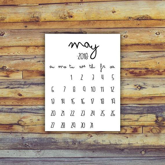 May 2018 Printable Calendar