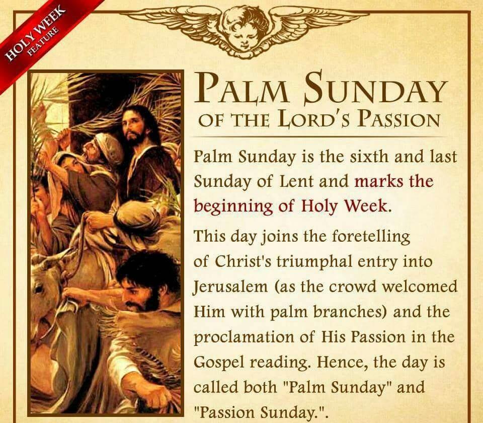 Palm Sunday Prayer