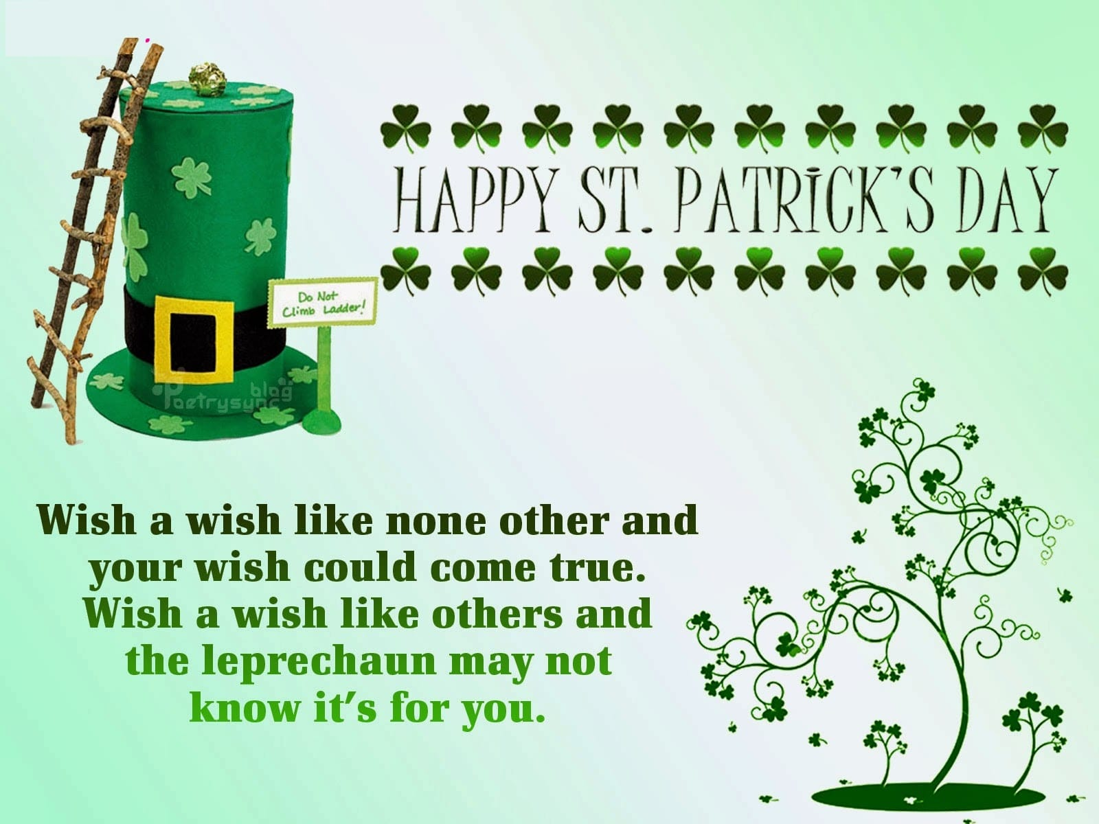 St. Patricks Day Message 2018