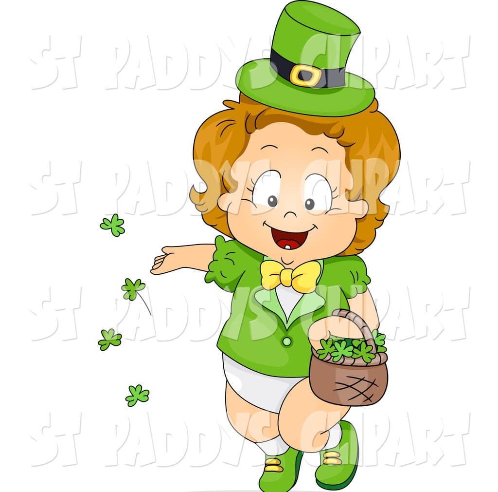 St.Patty's Day Baby Leprechaun clipart jpg