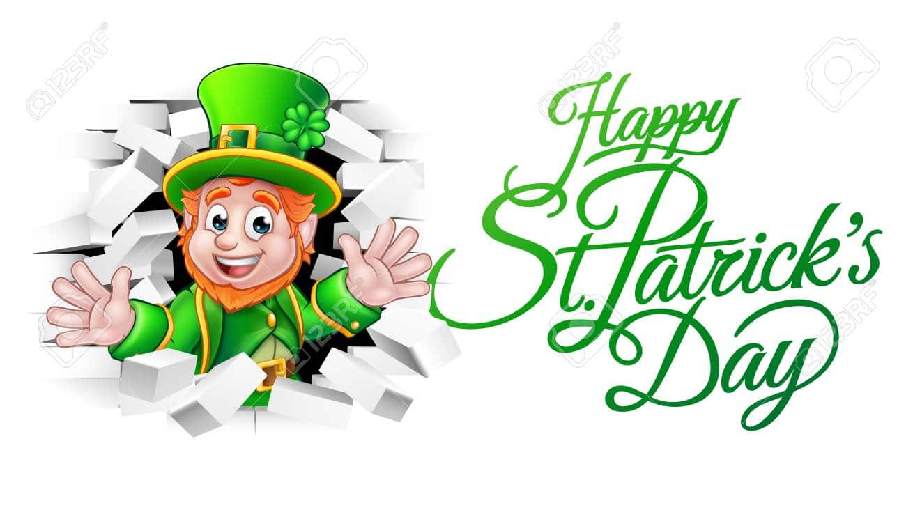 Happy St Patricks Day Cartoon Leprechaun