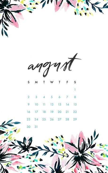 August 2018 Calendar Template