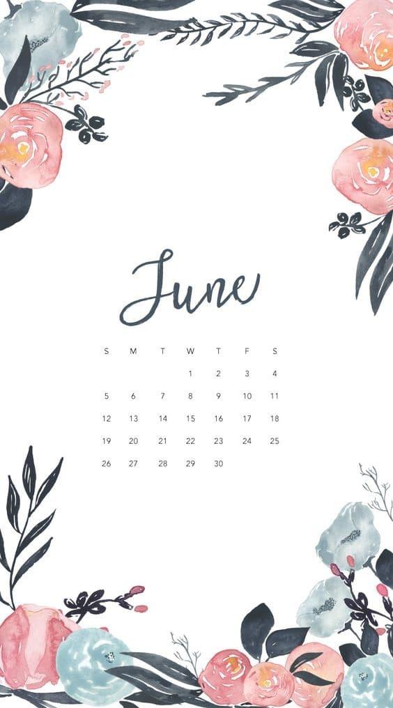 Blank Calendar June 2018