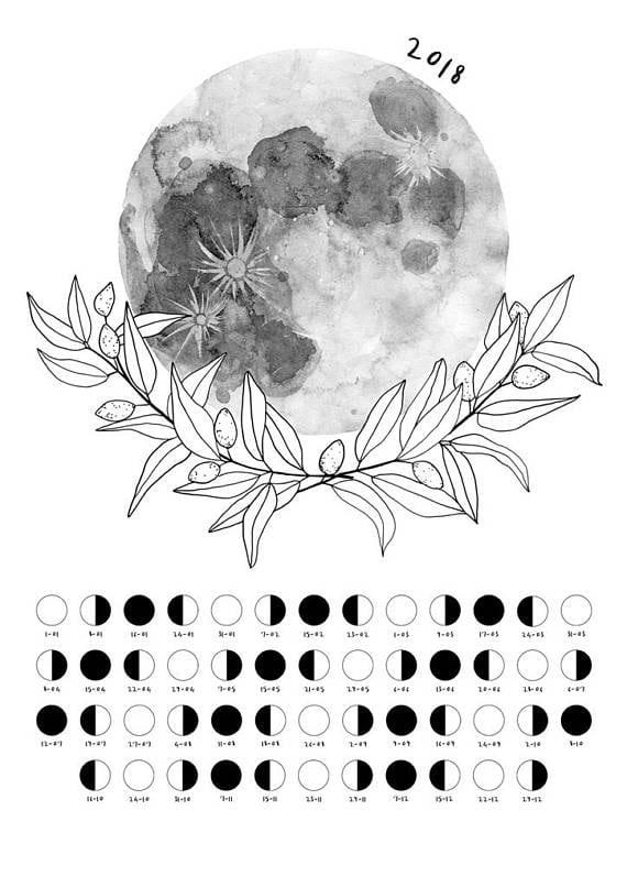 Moon May 2018 Calendar