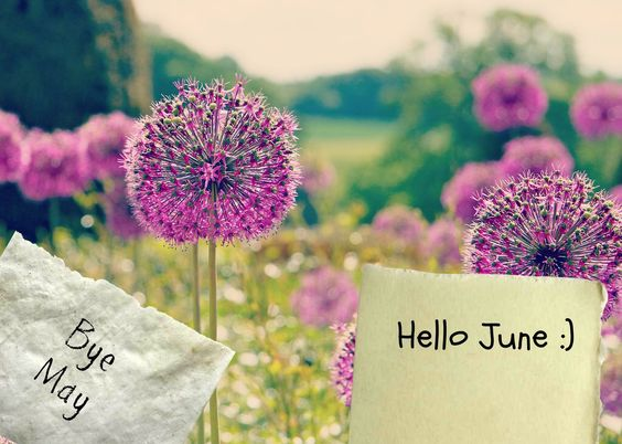 Goodbye May Hello June Images