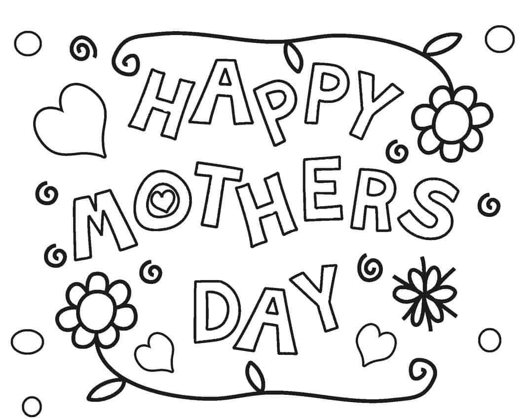 Happy Mothers Day Coloring Pages Pictures Free HD Images