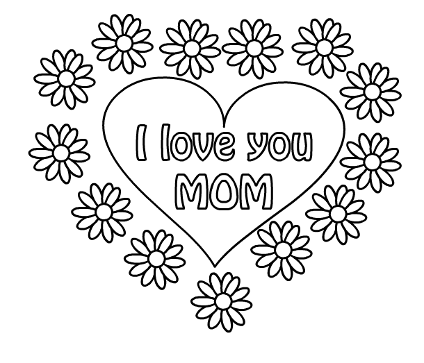 Happy Mothers Day Coloring Pages Wishes Free HD Images