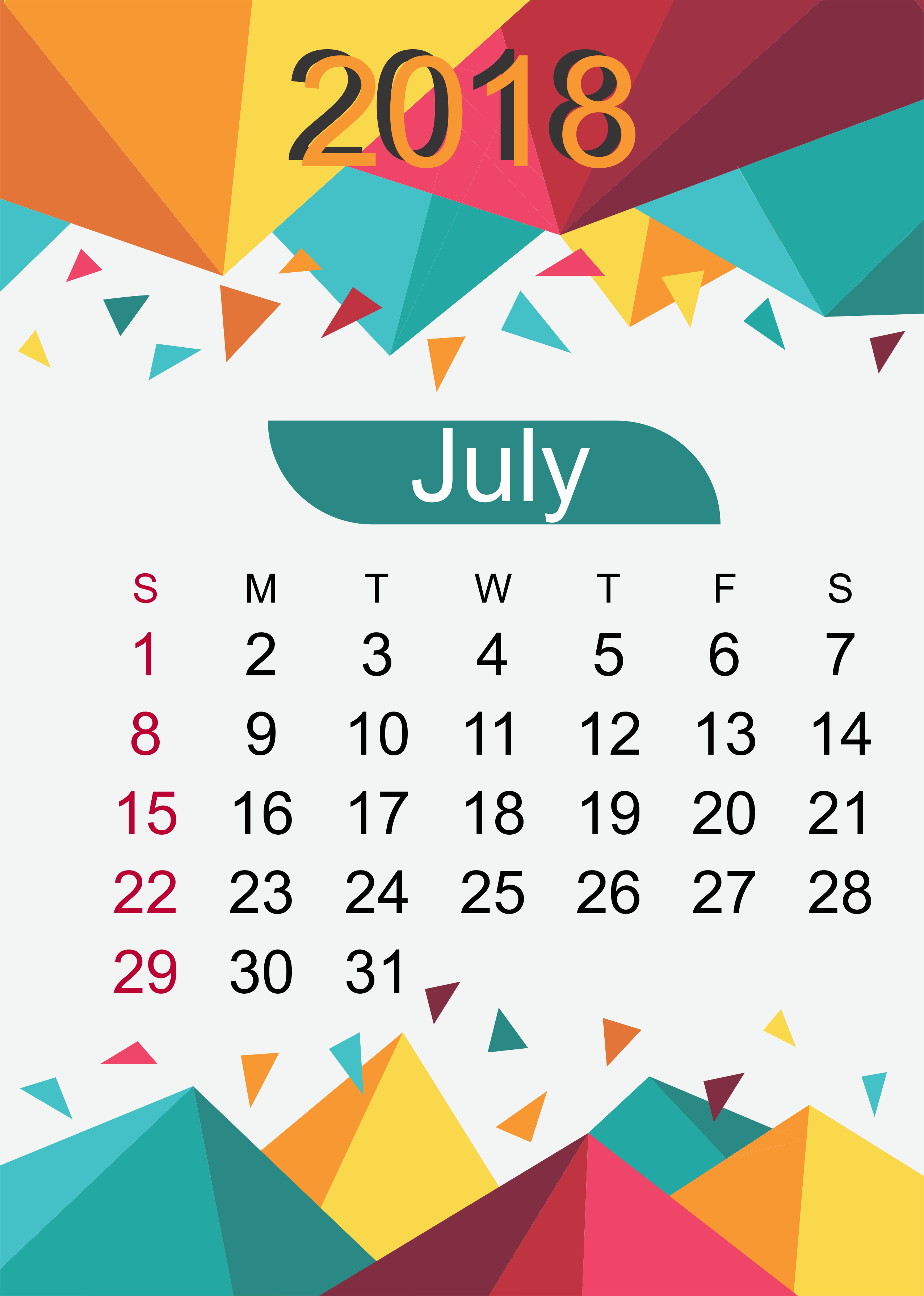 July Calendar Design : Quote images july calendar free template download