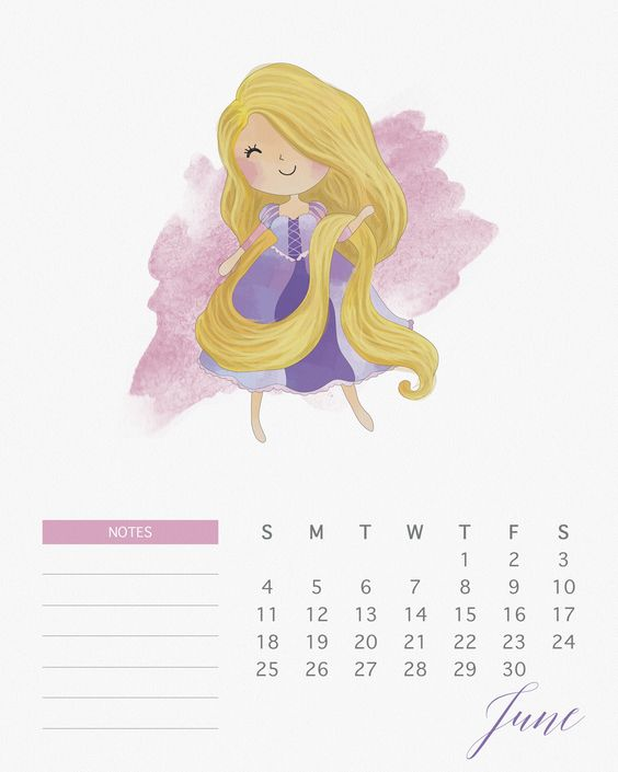 June 2018 Monthly Calendar