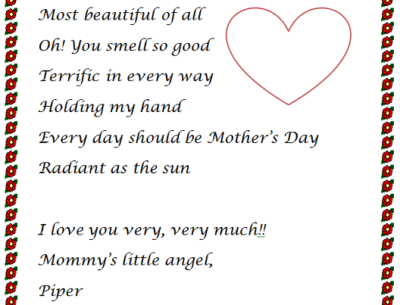 Mother's Day Essay