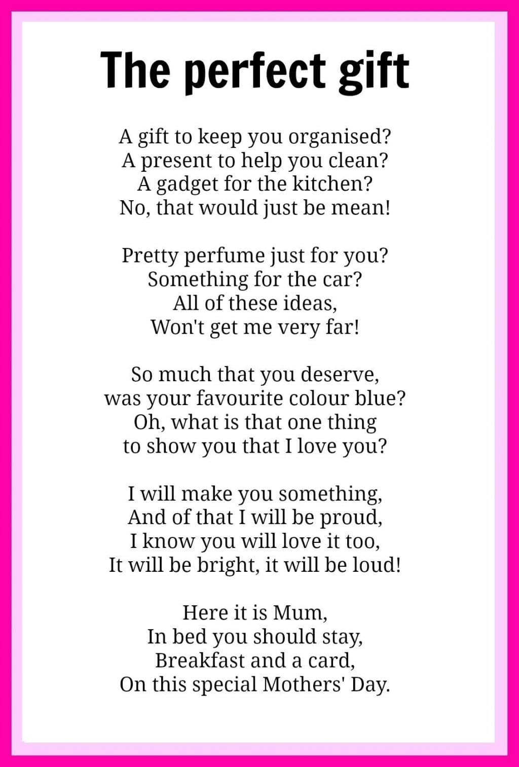 Mother's Day Speech Blessings