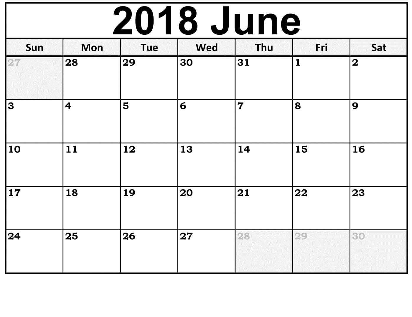 photograph relating to June Printable Calendar identified as Printable Calendar June 2018 Term,Excel And Pdf Layout