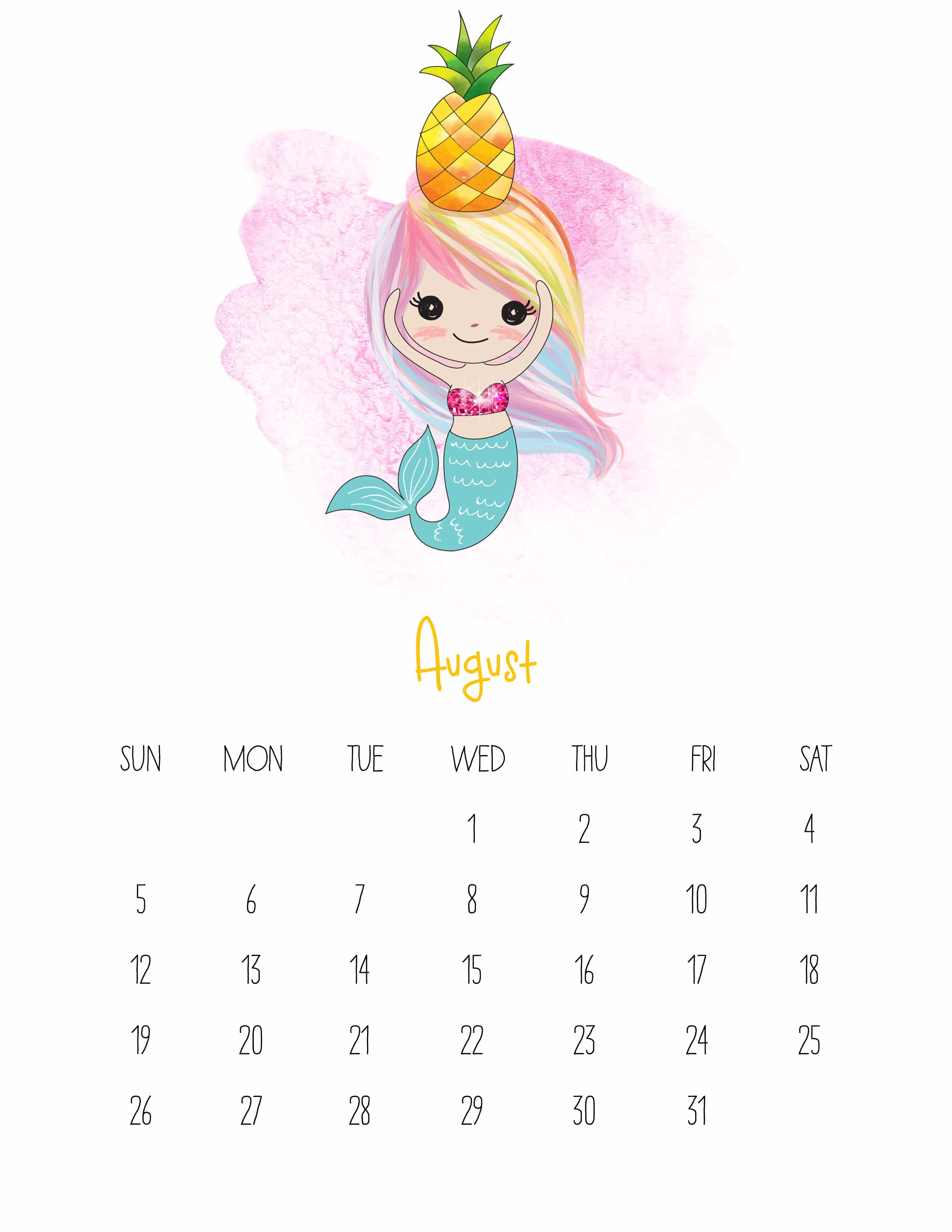 2018 August Planning Calendar – Quote Images HD Free