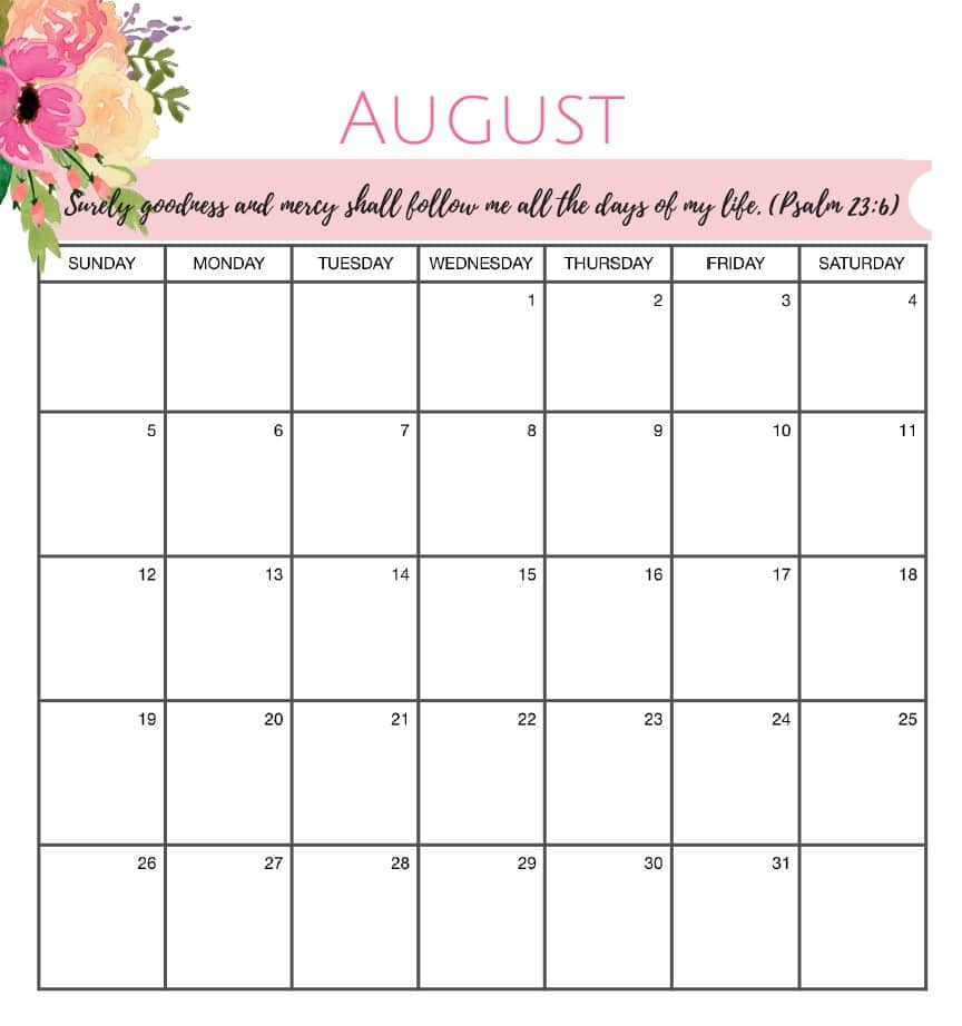 Calendar Organization Quotes : August calendar yearly free hd images