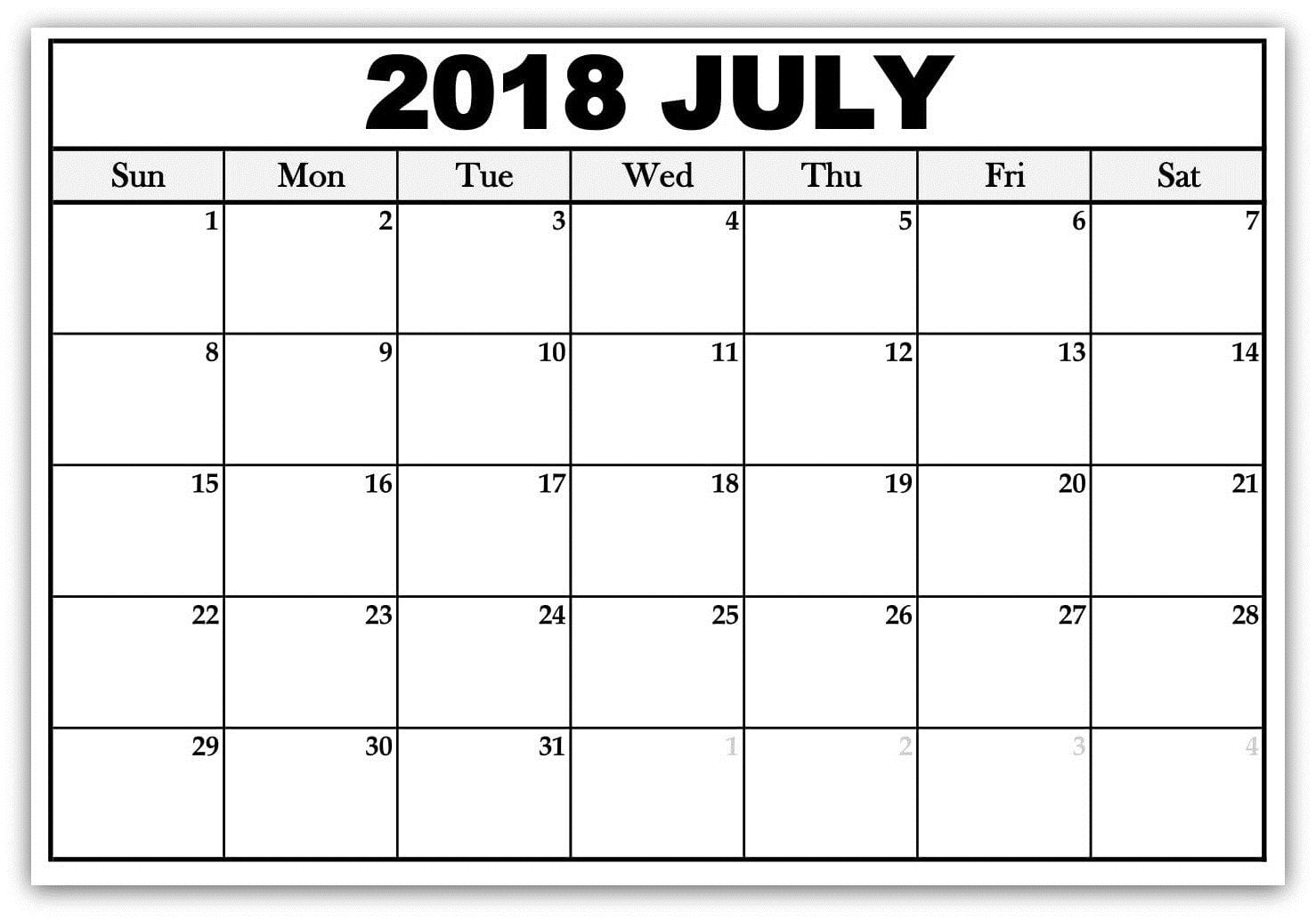 image about Printable Word Calendar identified as Free of charge Printable Phrase Calendar July 2018 Estimate Pics High definition No cost