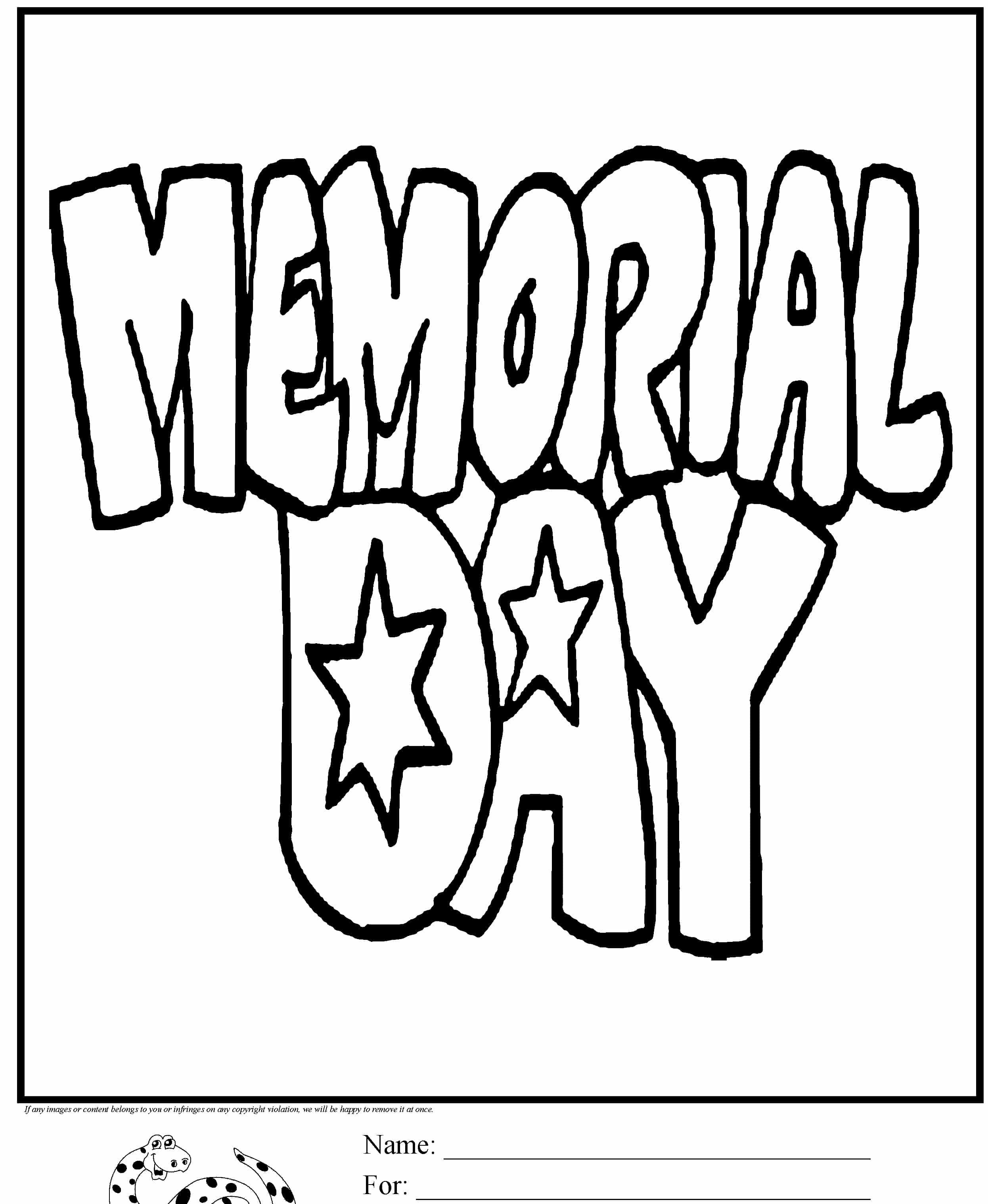 Memorial Day Coloring Sheet Free Oppidan Library