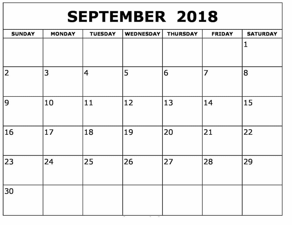 Free HD Images September 2018 Calendar Desk Printable ...