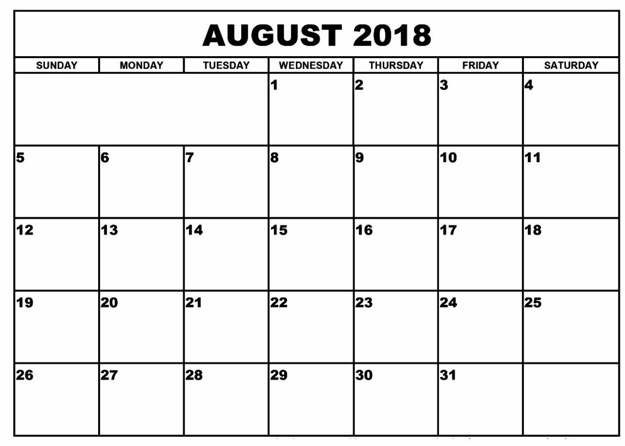 Calendar 2018 In Excel Format
