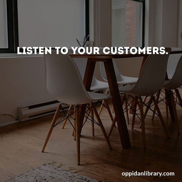 Listen to your customers this is business tip for November 2018 you can download it now is free