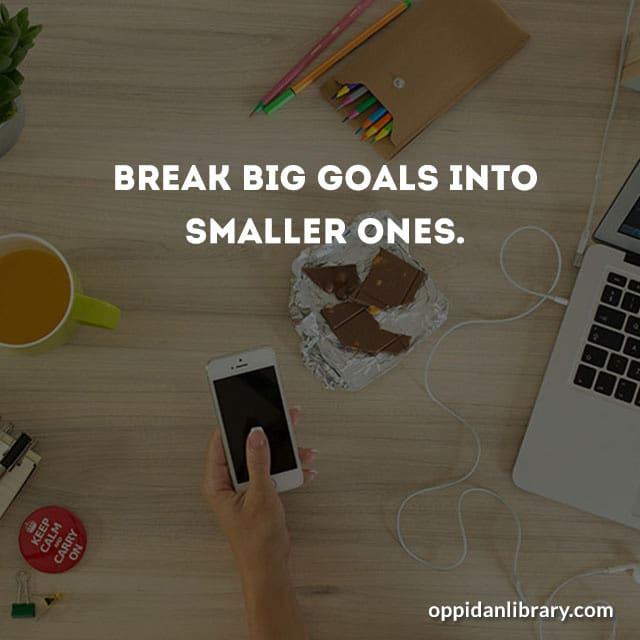 November tip Brak big goals into smaller one