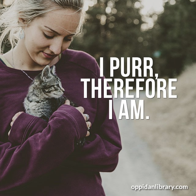 I PURR , THEREFORE I AM.