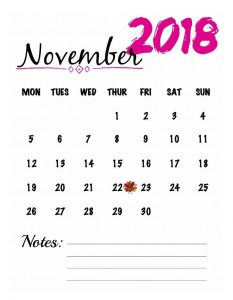 Download calendar for November and make a plan for yesterday and jot down your important task