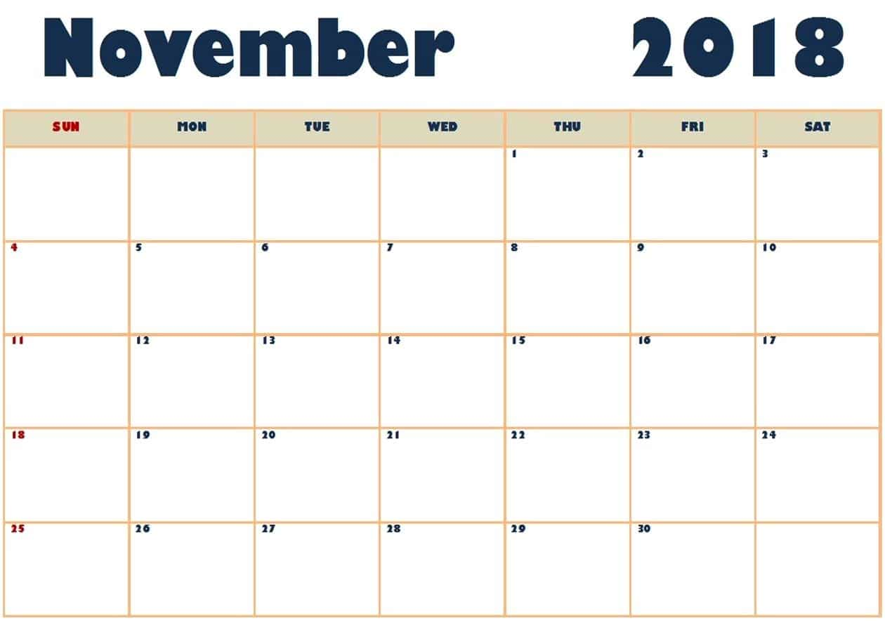Getting the printable 2018 November calendar on oppidanlibrary.com and continue with working on to the following October.