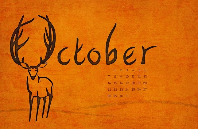 Keep moving and enjoy October 2018 Calendar Pdf Printable Template