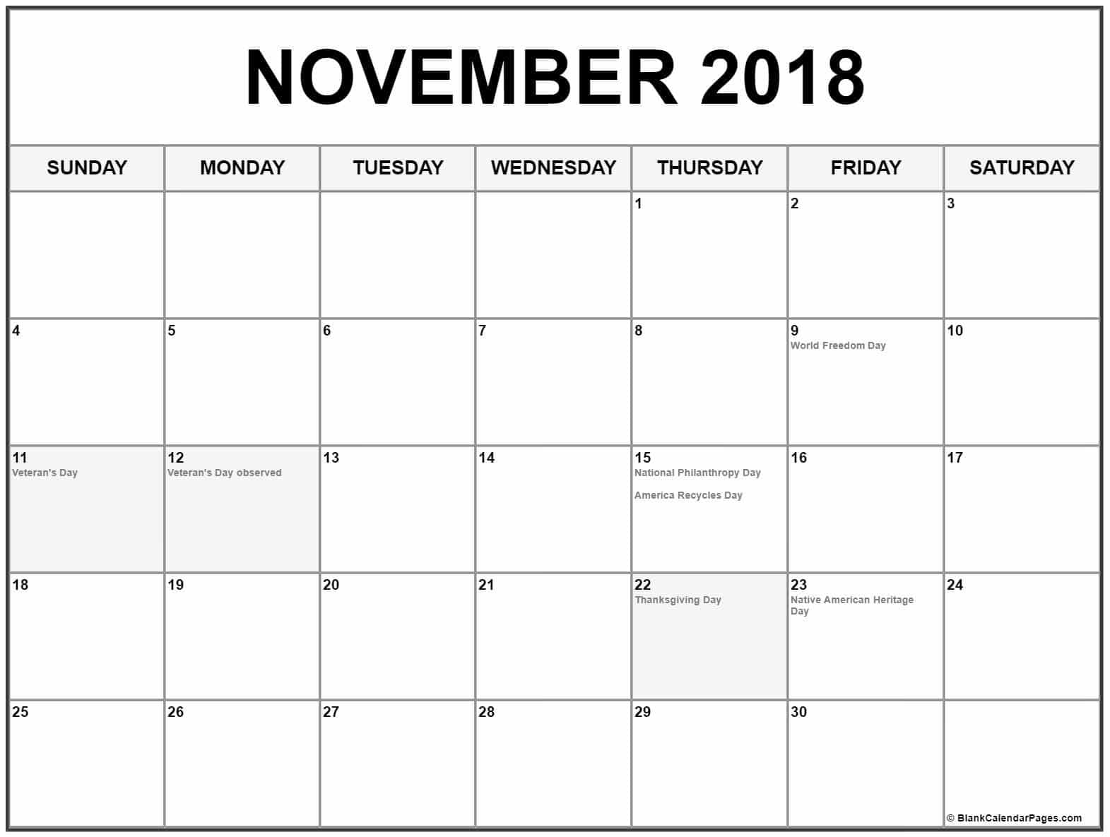 Mark a date of birthday for your special one that you want to celebrate this November 2018 so we can make it easy to download excel format calendar 2018