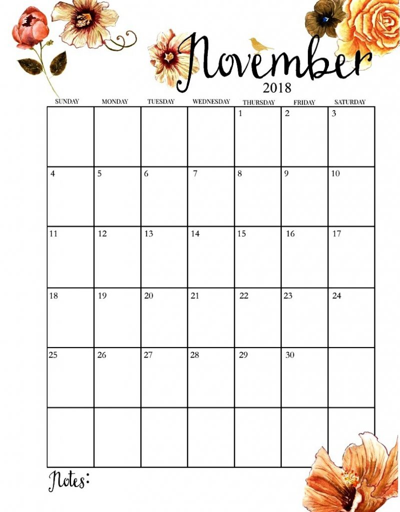 November is a eleven month of the year and make this year full of memory then and mask as a memorable November to download PDF calendar and also find printable calendar