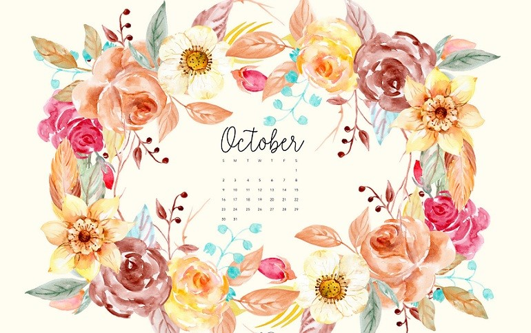 The month October come and brings joy with flower