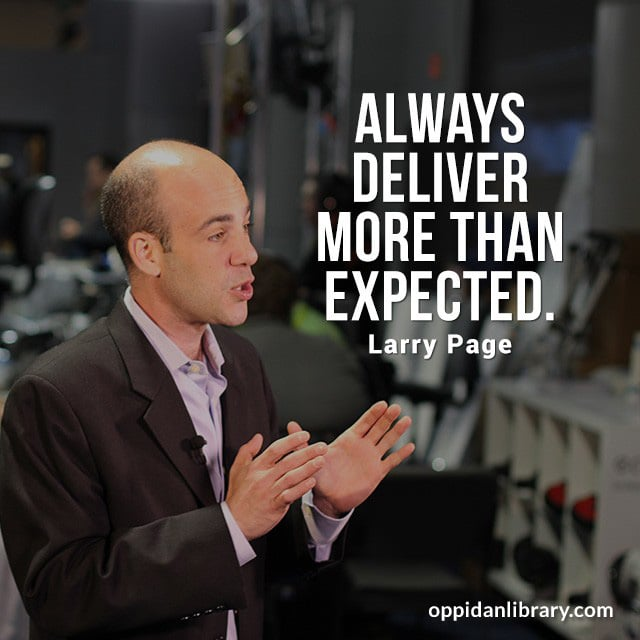 """Download Entrepreneur Quotes for Instagram, Twitter & Whatsapp : Always deliver more than expected """"Larry Page """""""